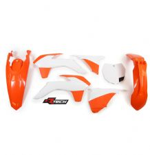 New Plastic Kit Orange/White KTM SX SXF 125/250/350/450 2013-15 Racetech
